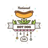 Jour national de hot-dog Illustration de vecteur illustration de vecteur