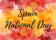 Jour national de l'Espagne illustration stock