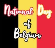 Jour national de la Belgique Photographie stock libre de droits