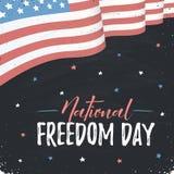 Jour national de liberté illustration stock
