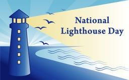 Jour national de phare illustration de vecteur