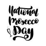 Jour national de prosecco illustration libre de droits