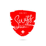 Jour national de Suisse illustration de vecteur