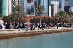Jour national du Qatar, Doha Photos libres de droits