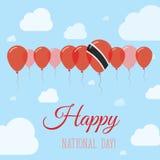Jour national du Trinidad-et-Tobago à plat patriotique illustration stock