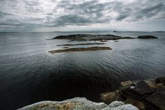 Jour nuageux de paysage de la Norvège Photographie stock libre de droits
