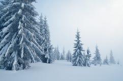 Jour nuageux de paysage de montagne Photographie stock