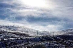 Jour nuageux froid photo stock