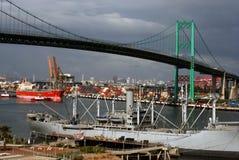 Jour occupé au port Image libre de droits