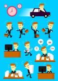 Jour occupé d'homme d'affaires pressé Photographie stock libre de droits
