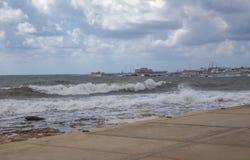 Jour orageux chez Paphos Photographie stock libre de droits