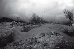 Jour orageux infrarouge de Fisheye Images libres de droits