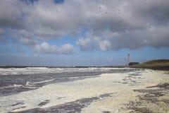 Jour orageux par la mer Images uniques images stock