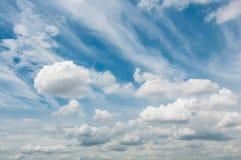 Jour panoramique de ciel beau Images stock