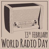 Jour par radio du monde Photos stock