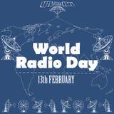 Jour par radio du monde Images libres de droits