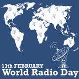 Jour par radio du monde Photos libres de droits