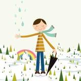 Jour pluvieux illustration stock
