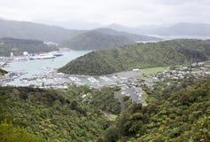 Jour pluvieux au Nouvelle-Zélande Photographie stock