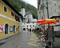 Jour pluvieux dans Hallstatt Photo stock