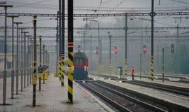 Jour pluvieux dans l'est de la Slovaquie Image stock