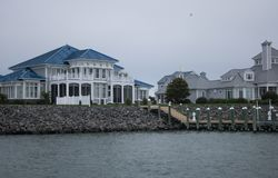 Jour pluvieux dans la ville d'océan, le Maryland Image libre de droits