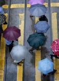 Jour pluvieux en Hong Kong photos libres de droits