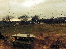 Jour pluvieux, Tableau de pique-nique Photos stock