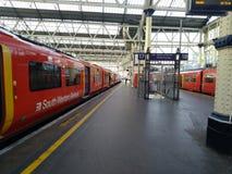 Jour Royaume-Uni de Londres de station de m?tro beau, photos libres de droits
