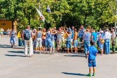Jour russe de MARINE en parc de Moscou Gorki Images stock