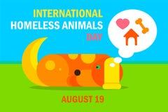 Jour sans abri international d'animaux illustration libre de droits