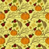 Jour sans couture de thanksgiving de modèle illustration stock