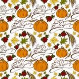 Jour sans couture de thanksgiving de modèle illustration de vecteur