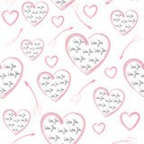 Jour sans couture du ` s de Valentine de modèle Images libres de droits
