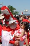 Jour Santa du Canada avec l'enfant Photo stock