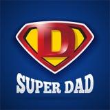 Jour superbe du ` s de Logo Design For Father de papa Photographie stock