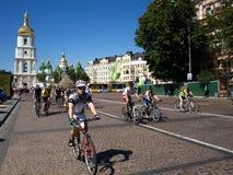 Jour ukrainien de vélo Image libre de droits