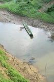 Jour vert Thaïlande de canal de fleuve de bateau Images libres de droits