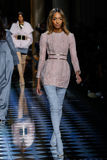 Jourdan Dunn walks the runway during the Balmain show Stock Photo