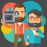 Jourmalist i wiadomość reporter ilustracji