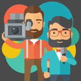Jourmalist and news reporter Royalty Free Stock Photo