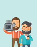 Jourmalist and news reporter Stock Photography
