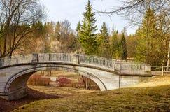 Journée de printemps au parc de Pavlovsk Images libres de droits