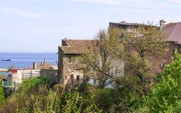 Journée de printemps sur le rivage du Roumain la Mer Noire, Constanta Photos libres de droits