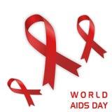 Journée mondiale contre le SIDA avec l'icône d'aides photo libre de droits