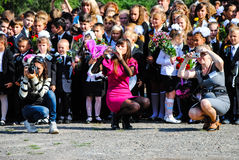Journée 'portes ouvertes' à l'école Photographie stock