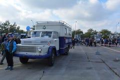 Journée 'portes ouvertes' de public sur le garage de 40 ans Cinkota 36 d'autobus Photos stock