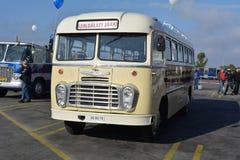 Journée 'portes ouvertes' de public sur le garage de 40 ans Cinkota IV d'autobus Photo stock