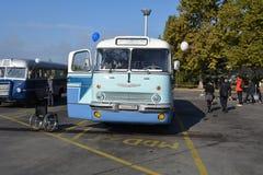 Journée 'portes ouvertes' de public sur le garage de 40 ans Cinkota XX d'autobus Photos stock