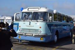 Journée 'portes ouvertes' de public sur le garage de 40 ans Cinkota XXX d'autobus Images stock